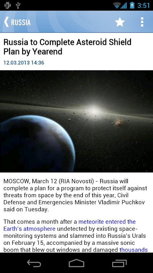RIA Novosti - screenshot