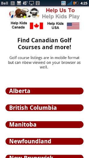 Golf Courses Canada