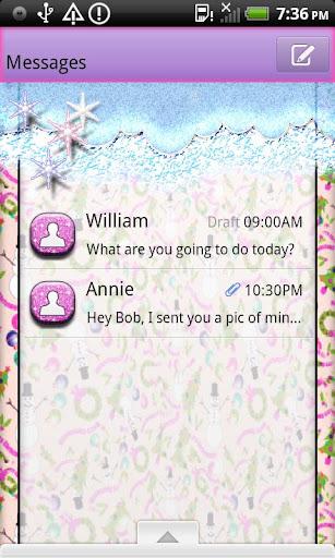 GO SMS THEMS SnowmanXmas1