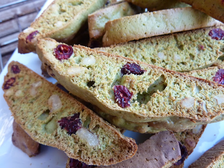 Matcha Tea Biscuits with Cranberries and Walnuts Recipe