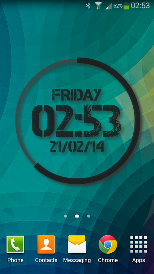 Extreme Clock Pro wallpaper- screenshot