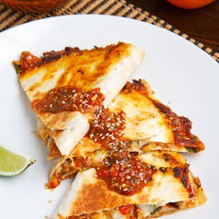 Sweet Chili Chicken Quesadilla.
