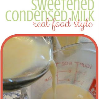 Healthy Homemade Sweetened Condensed Milk Recipe (Without Powdered Dry Milk!).