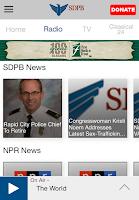 Screenshot of SDPB App