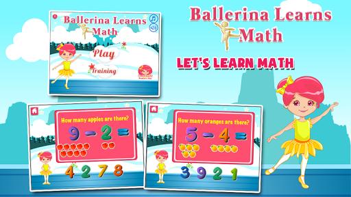 バレリーナ就学前の数学のゲーム