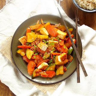 Tofu, Veggie and Kimchi Stir-Fry