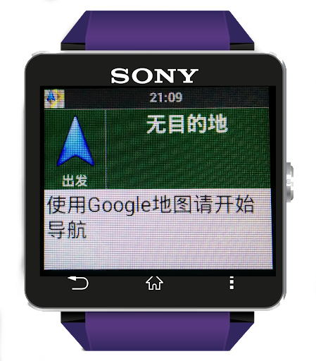 Smart GNAVI是SONY SmartWatch2