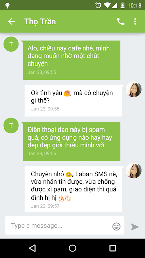 Laban SMS: spam blocker for PC