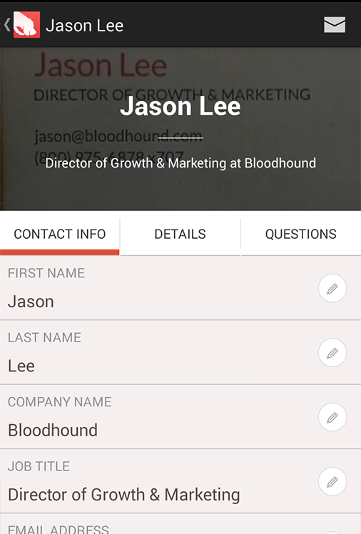 Bloodhound Lead Management - screenshot