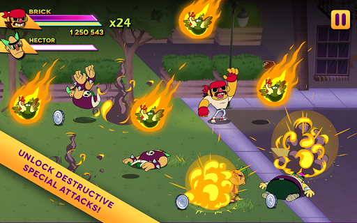 Игра Big Action Mega Fight для планшетов на Android