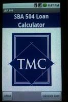 Screenshot of SBA 504 Loan Calculator