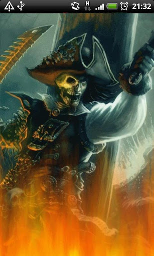 Ghost Pirate Skull LWP