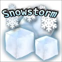 Snowstorm weather widget logo