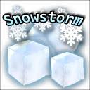 Snowstorm weather widget
