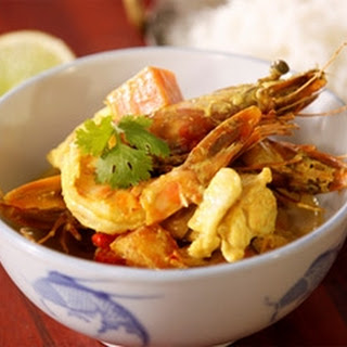 Fish And Prawn Curry.