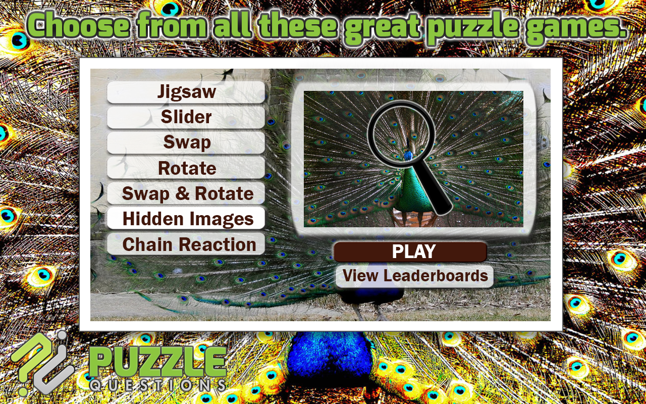 free peacock puzzle games android apps on google play