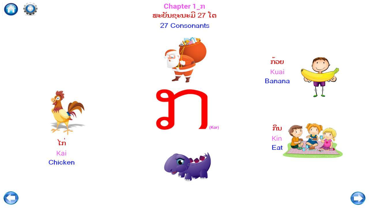 Lao writing alphabets