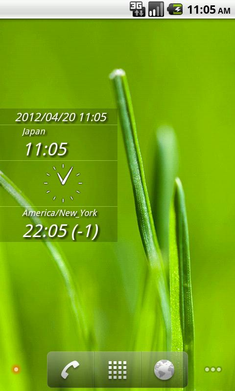 DUAL DIGIT WORLD CLOCK WIDGET - screenshot