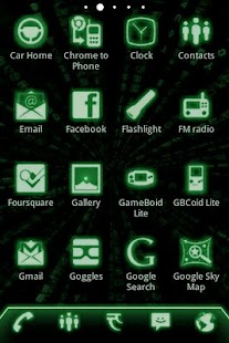 ADW Theme Green Glow Code Pro- screenshot thumbnail