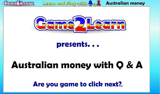 Australian money with Q A
