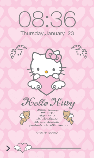 Hello Kitty Angel Screen Lock