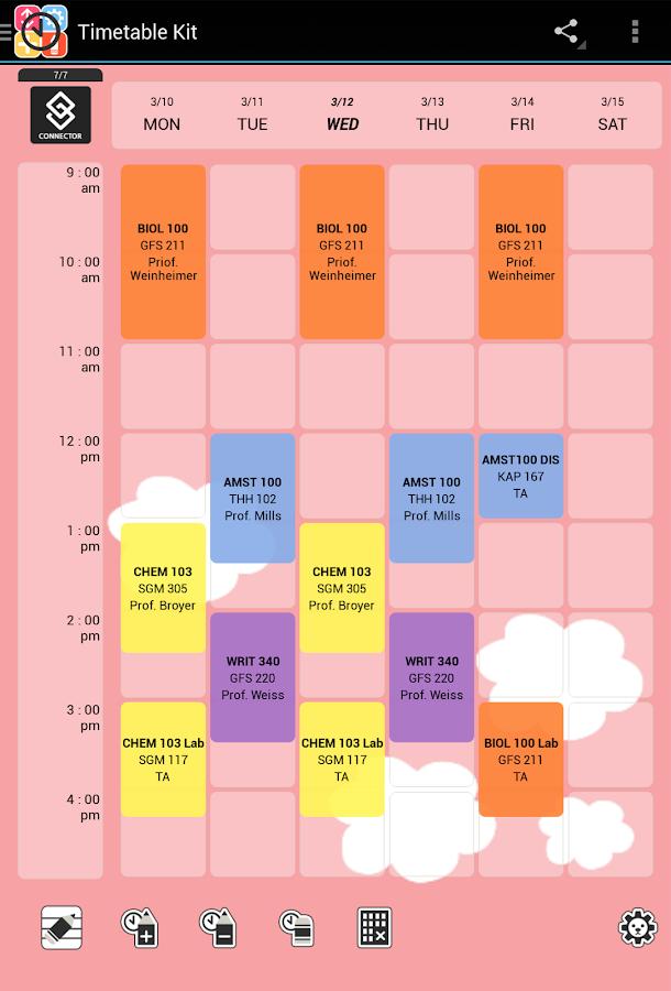 타임테이블 키트 - 시간표 ... : 無料スケジュール表 : 無料