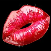 Sexy red lips sticker!!