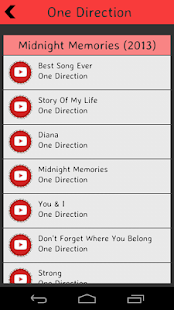 One Direction Lyrics screenshot