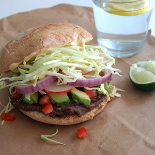 Avocado and Black Bean Tortas