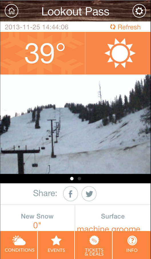 Ski NW Rockies App- screenshot