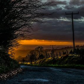 Sunset lane by Tracey Dobbs - Landscapes Sunsets & Sunrises