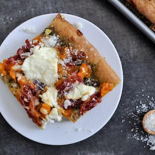Butternut Squash, Sage Pesto and Prosciutto Pizza.