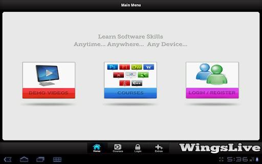 WingsLive - Tablet