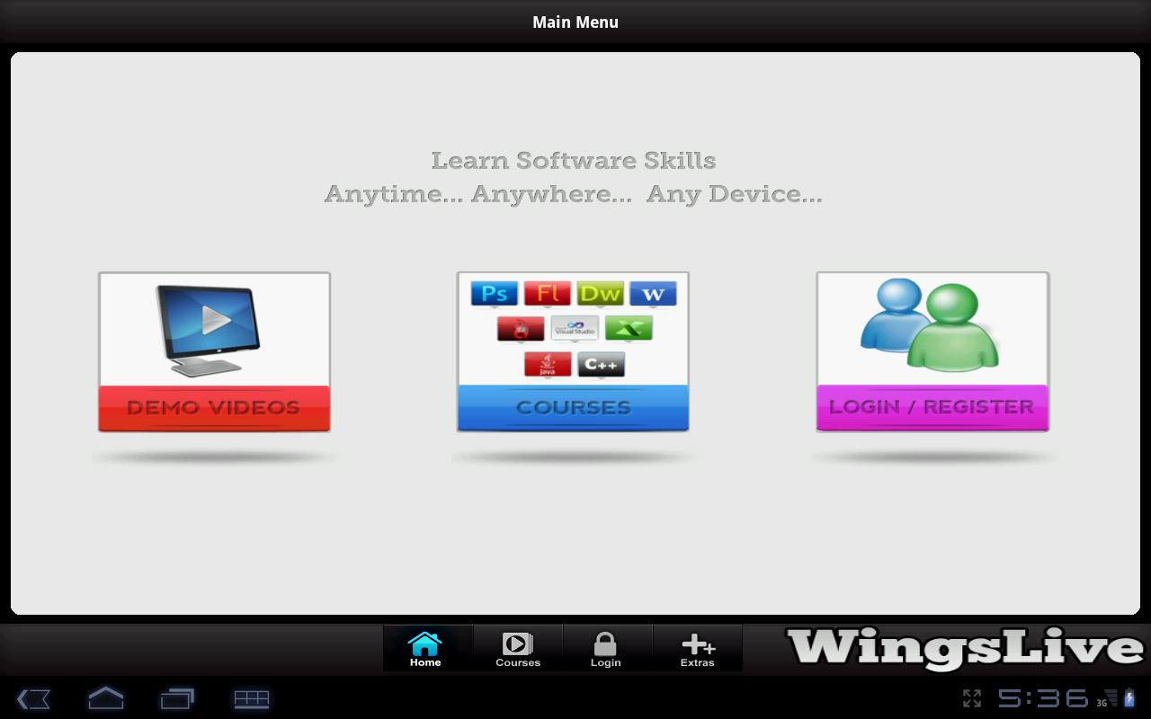 WingsLive - Tablet - screenshot