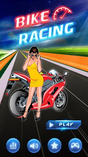 摩托车赛车 的自行车 赛车: Motorbike Race