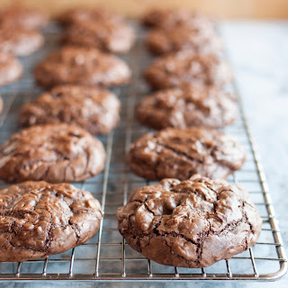 Chocolate Truffle Cookies with Cherries & Walnuts.
