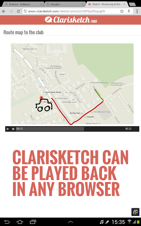 Clarisketch- screenshot