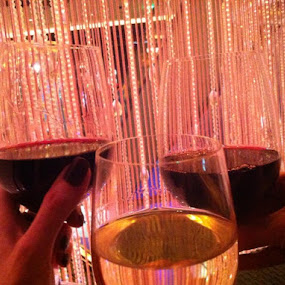 Wine~O~Clock...Vegas style in the Crystal room with my favs ❤️🎉🍷❤️ by Sue Fulop - Food & Drink Alcohol & Drinks