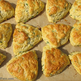 Farmgirl Susan's Savory Chive and Sharp Cheddar Cheese Scones.