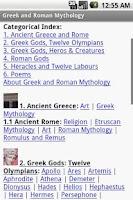 Screenshot of Greek and Roman Mythology