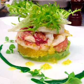 Poached Lobster Salad with Preserved Lemon Vinaigrette, Citrus and Avocado