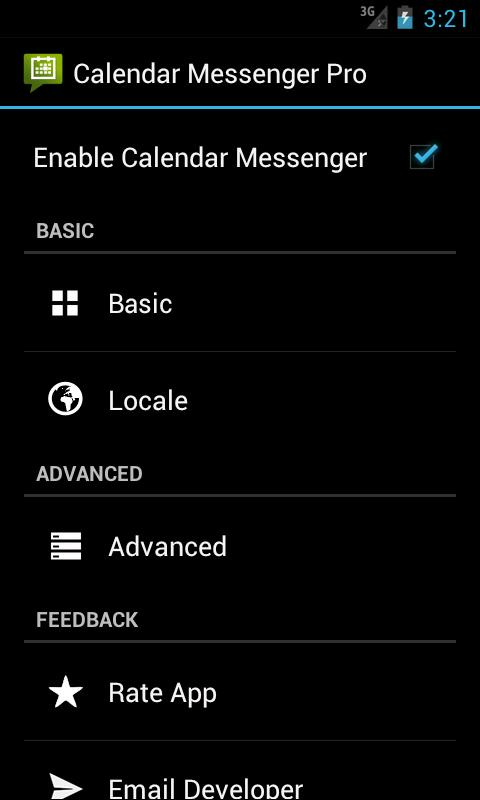 Calendar Messenger Pro- screenshot