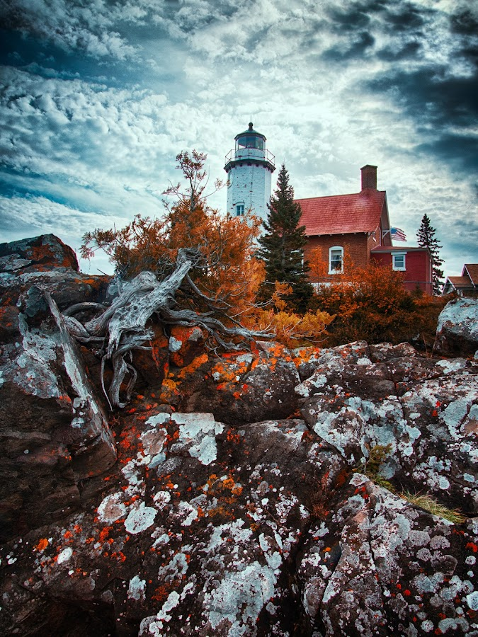 Eagle Harbor Lighthouse by Todd Bielby - Uncategorized All Uncategorized ( michigan, fall, lighthouse, lake superior, landscape )