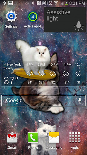 Cats In Space Live Wallpaper