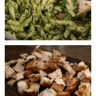 Grilled Chicken Spinach Pesto Pasta