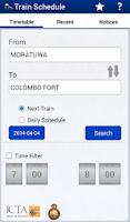 Screenshot of Sri Lanka Train Schedule