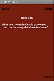 Oracle 11g OCA Free Quiz App - screenshot thumbnail
