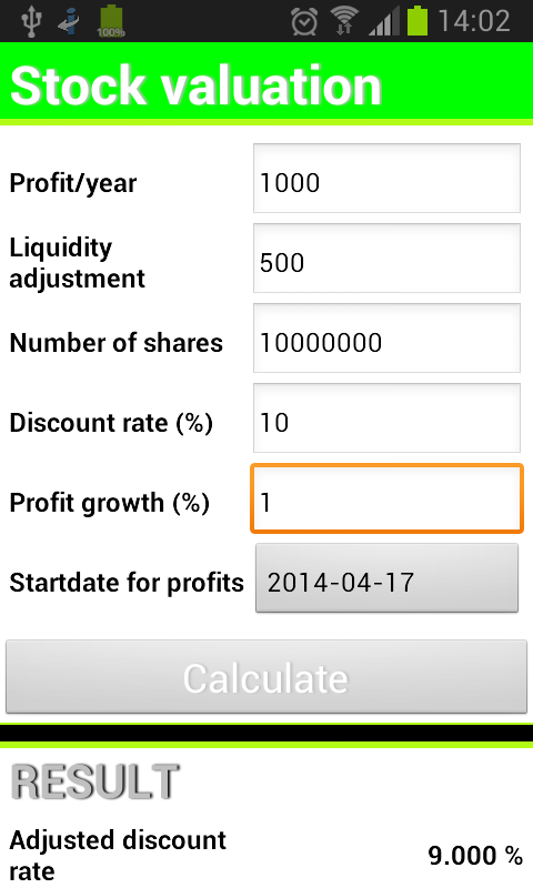 Tax calculation for stock options sale