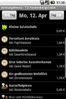 Screenshot of Achtung Mensa Berlin