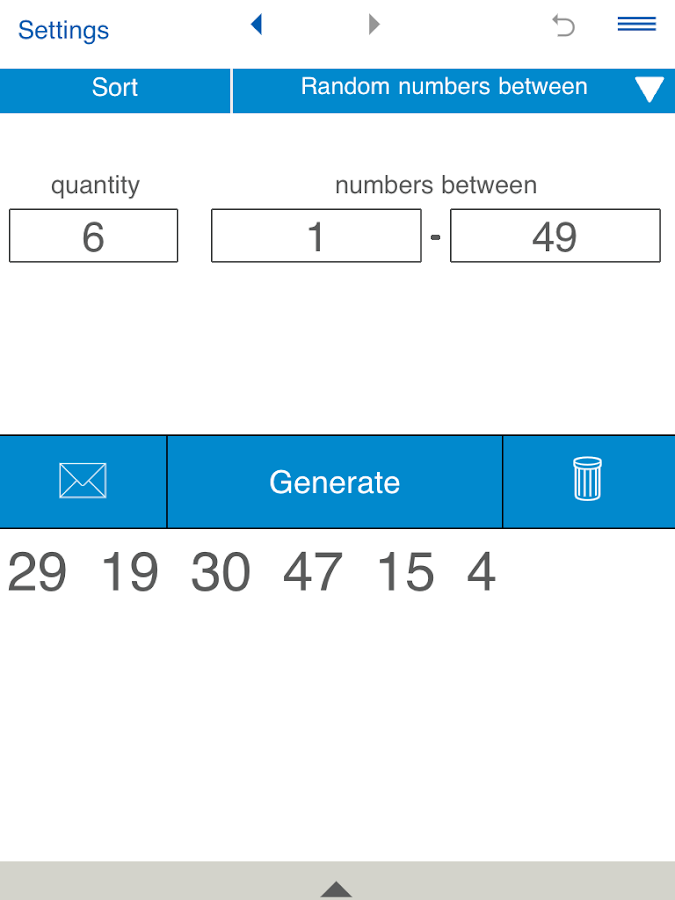 Random Number Generator- screenshot